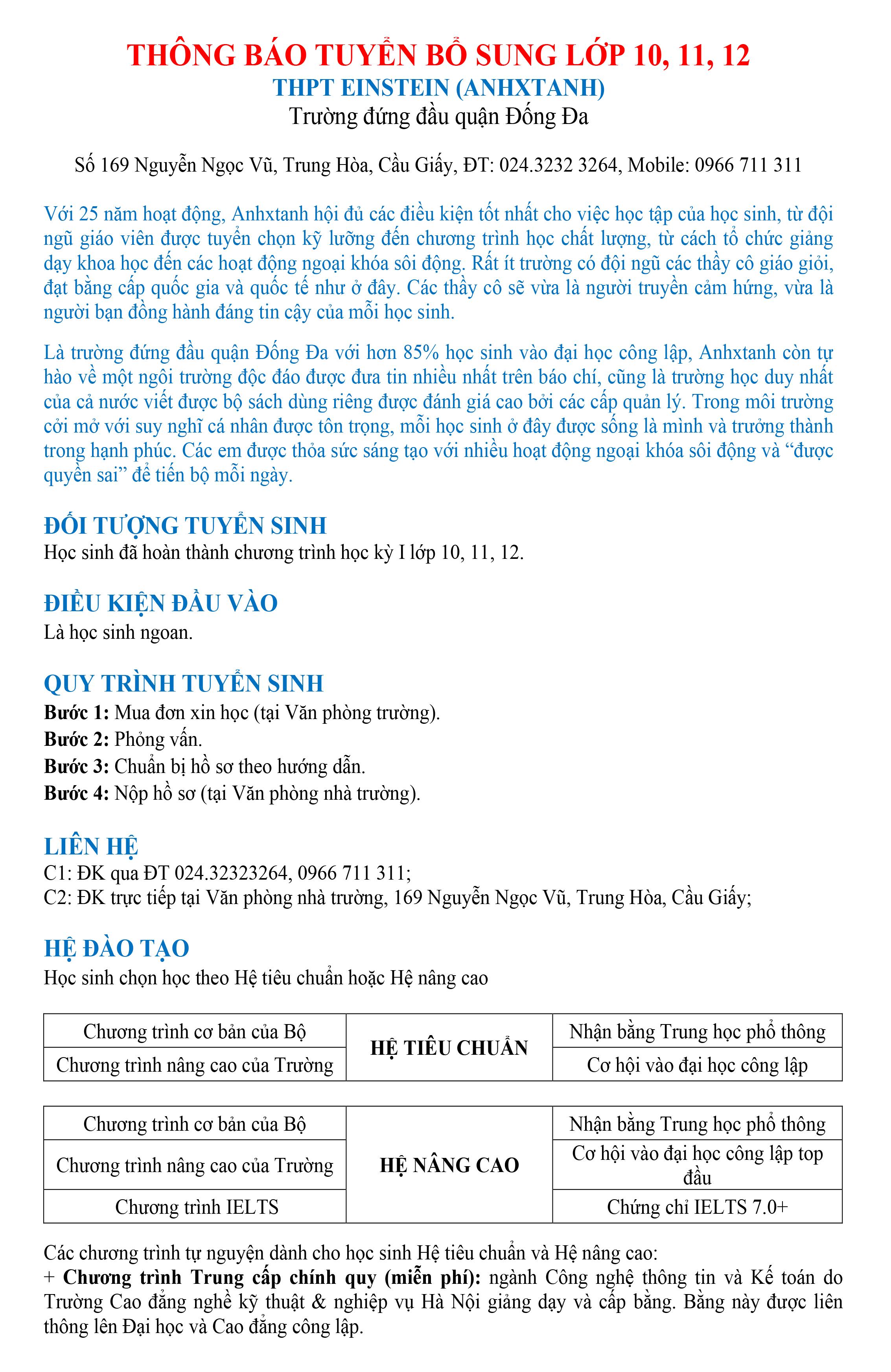 1. Thông báo TS - Bổ sung lớp 10, 11,12-1